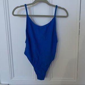 NWT Frankie's Bikinis Cobalt Blue One Piece